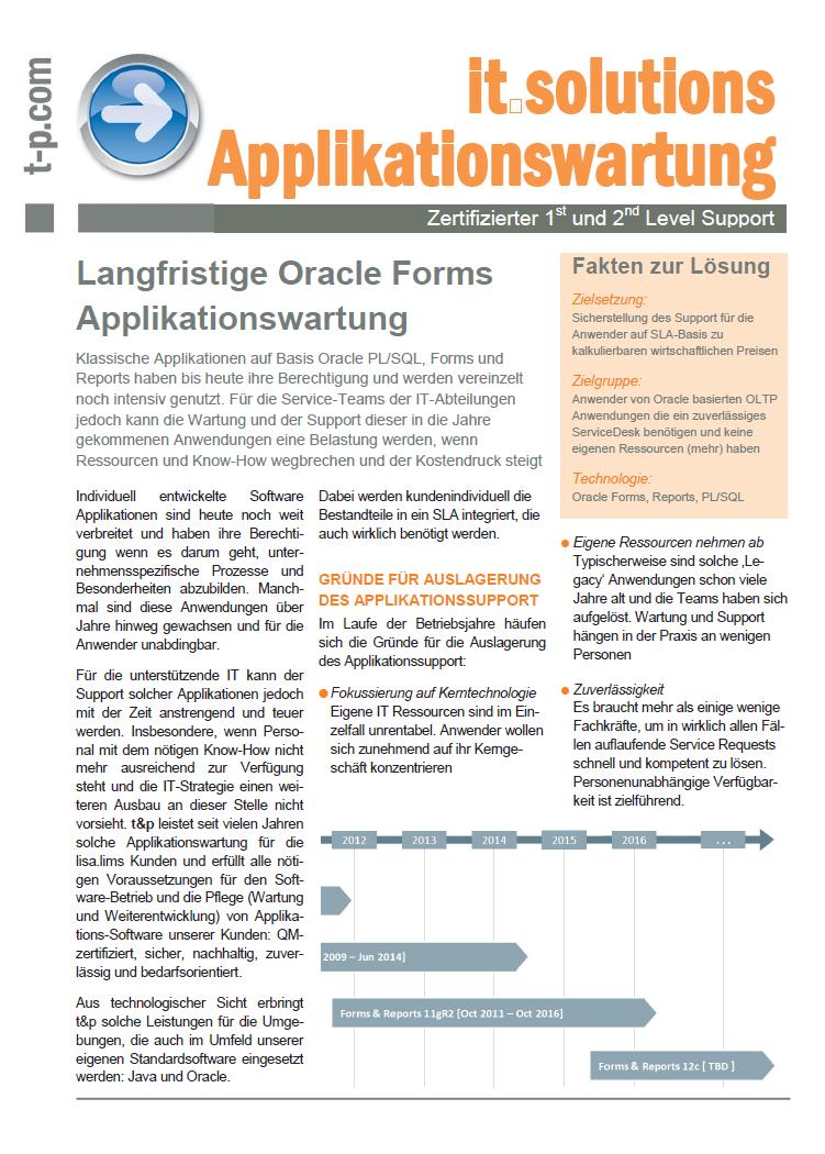 Download: Informationen zur Applikationswartung