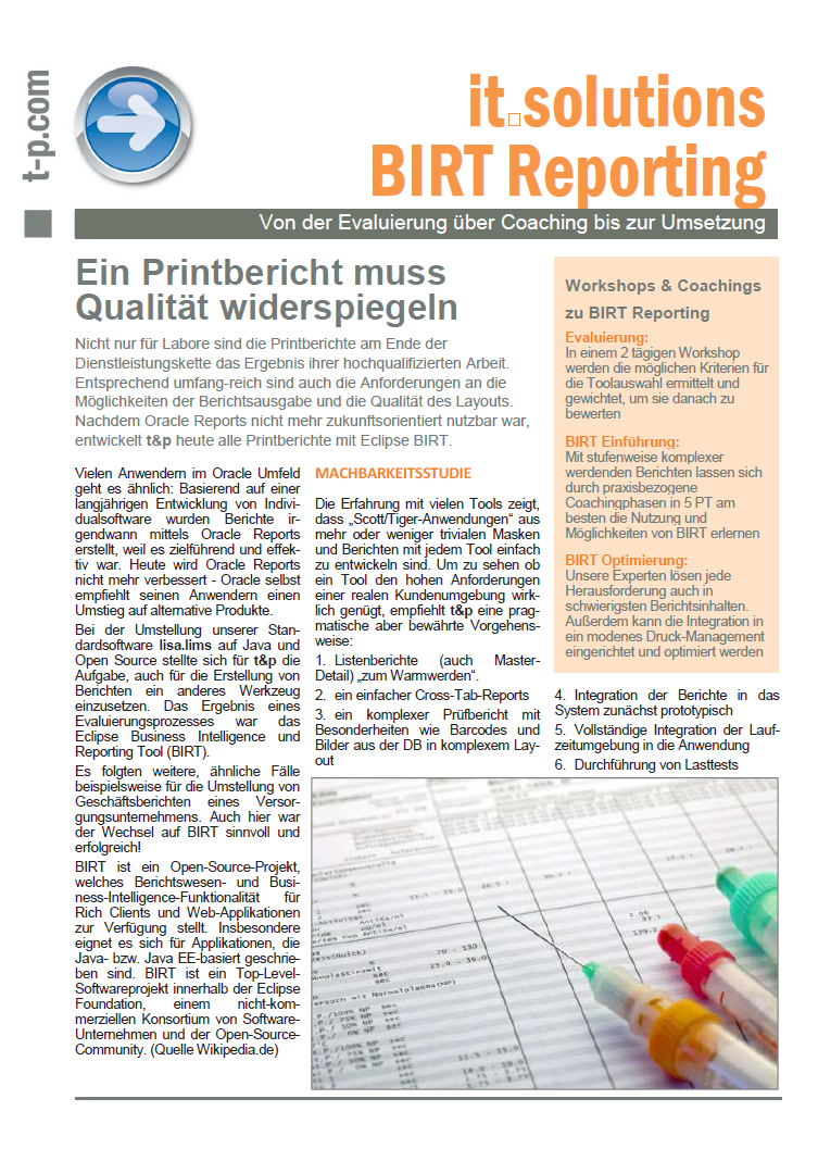it.solutions BIRT Reporting