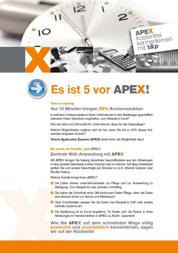 APEX-Flyer von t&p